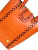 Tarini Leather Tote weave