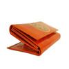 Leather Mandala wallet Orange