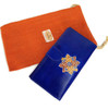 womens Leather wallet Blue