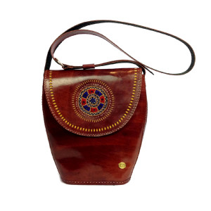 womens leather Tote brown