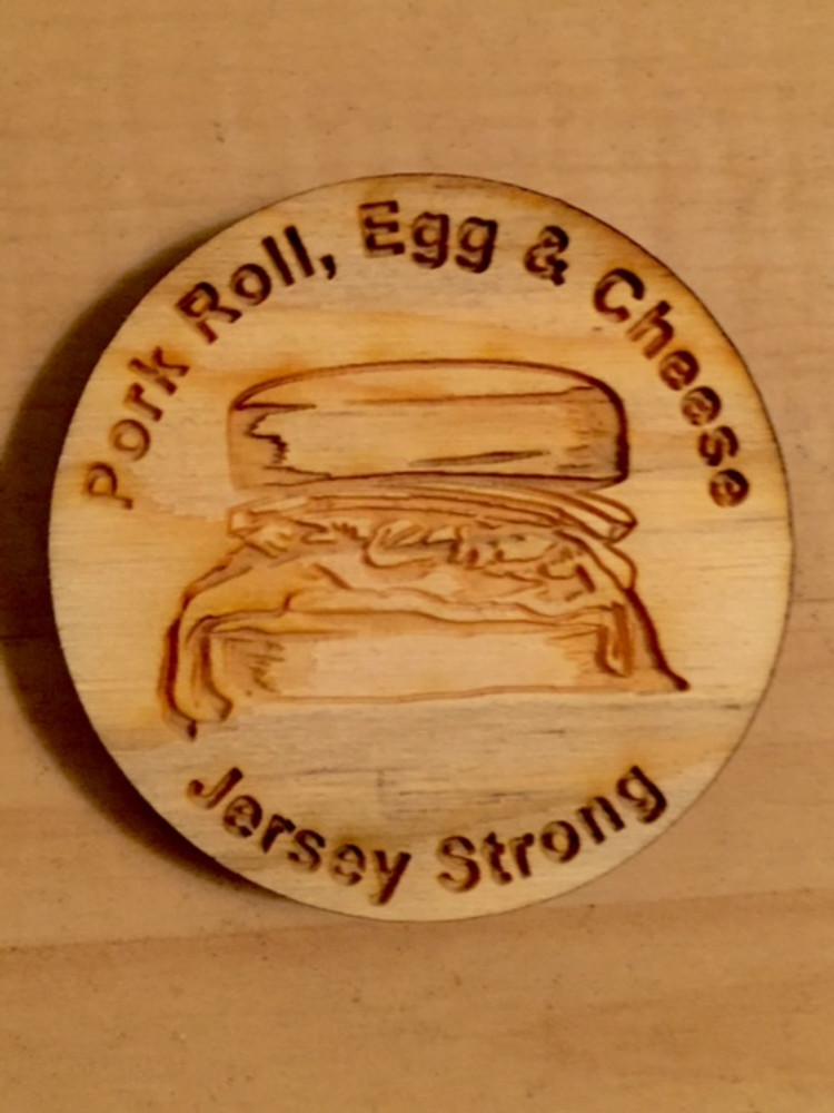 """Pork Roll Egg And Cheese 2"""" Round Magnet"""