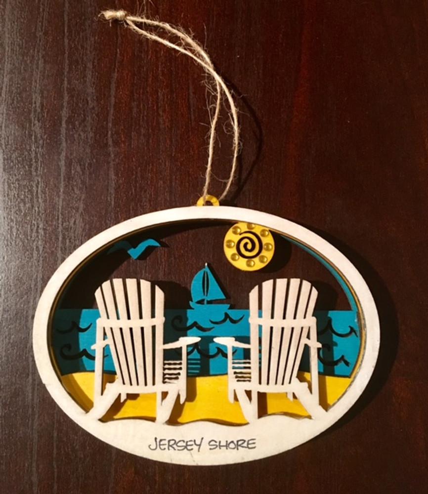 Jersey Shore Beach Chair Ornament