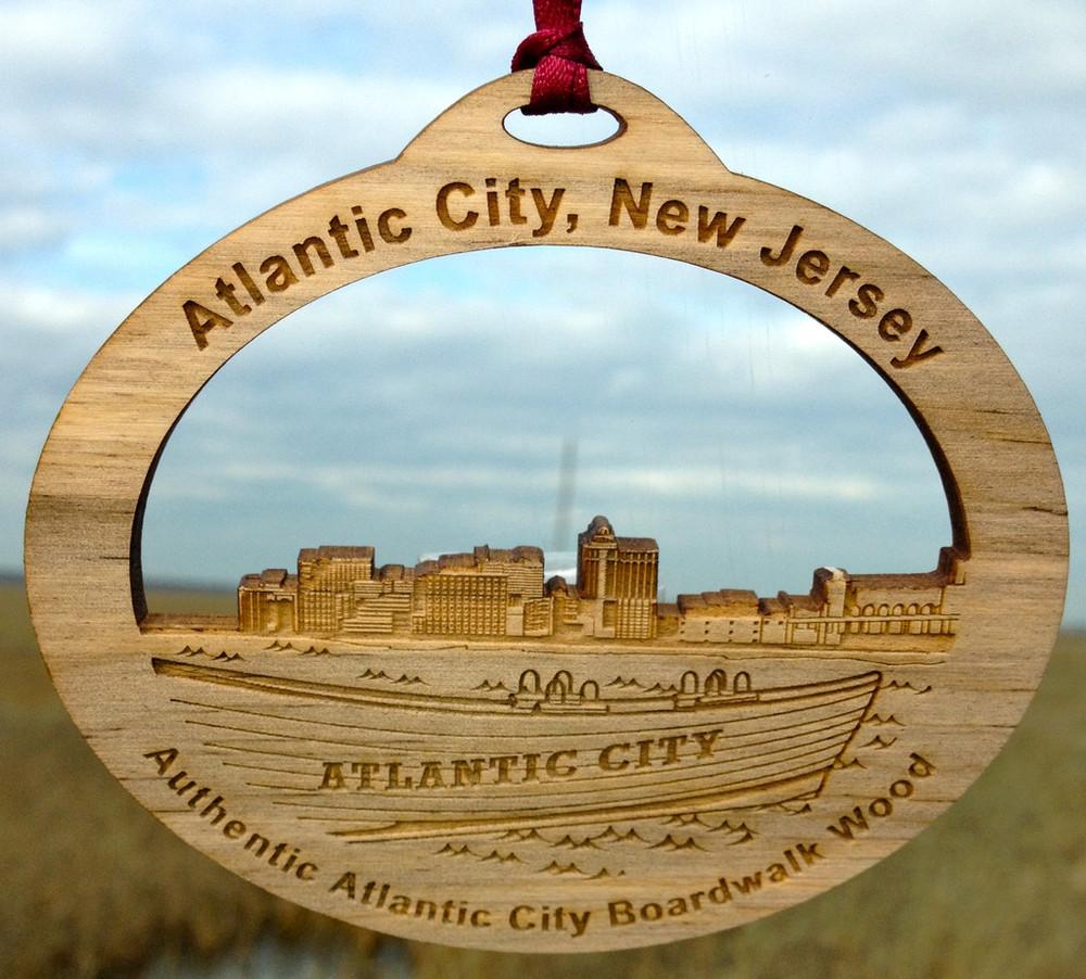 Atlantic City Boardwalk Lifeboat Ornament