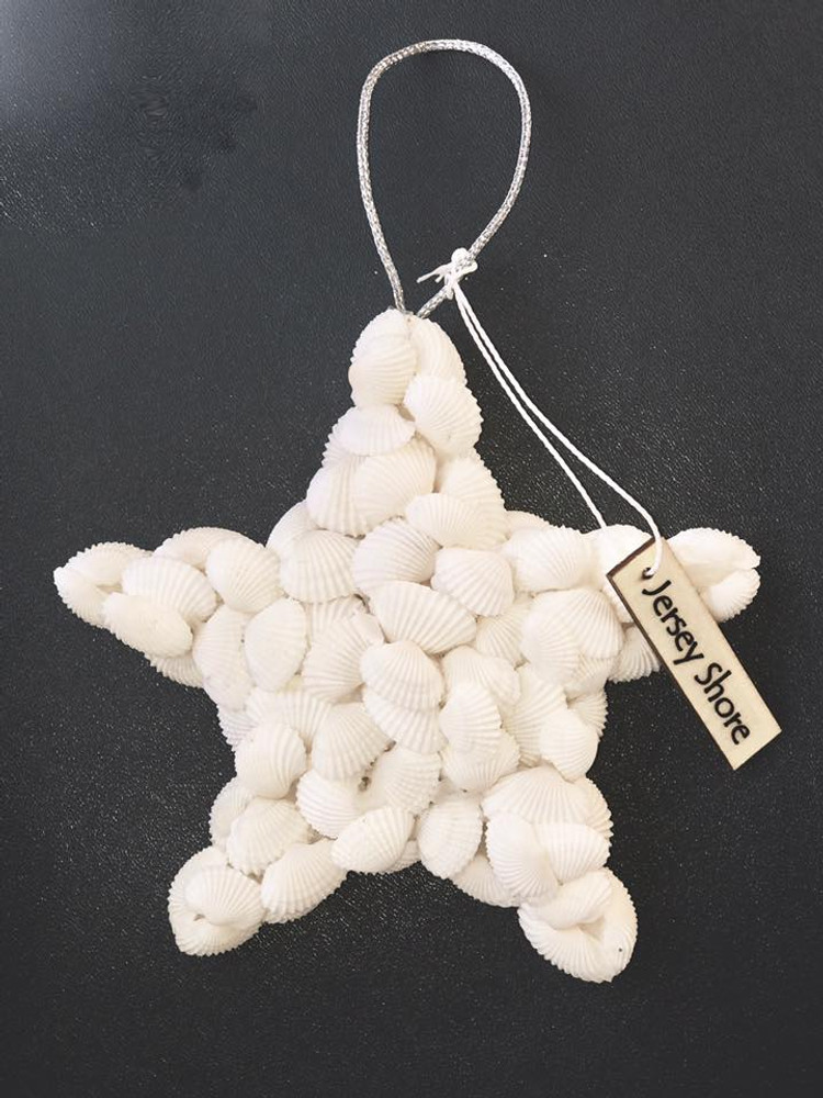 Natural Starfish With White Shell Ornament