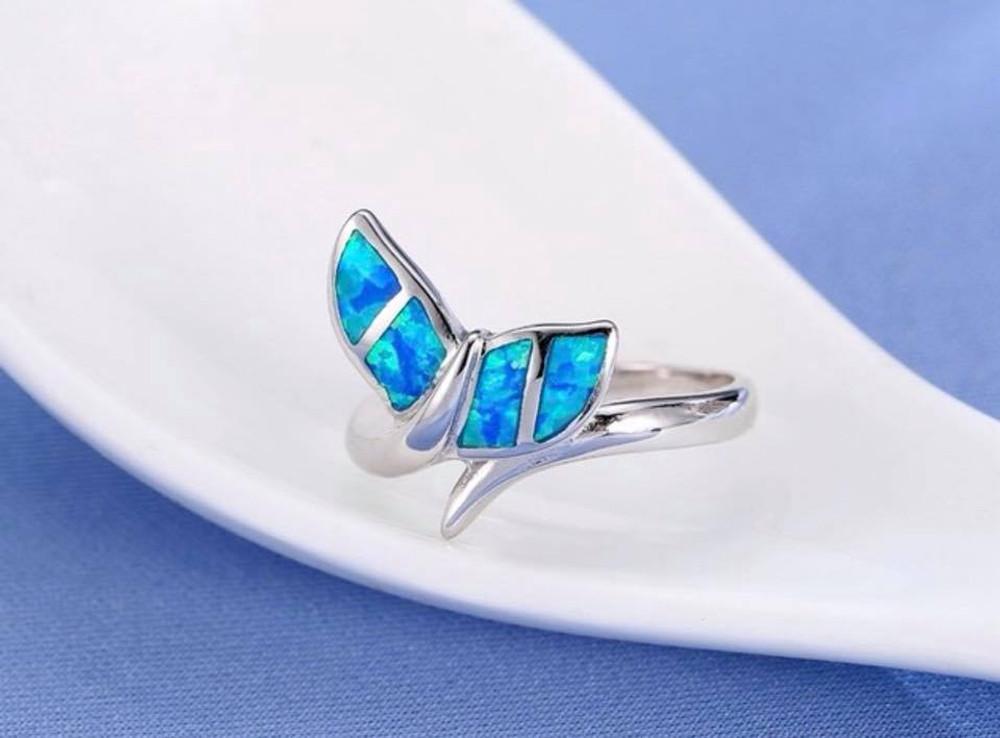 Mermaid Blue Opal Ring