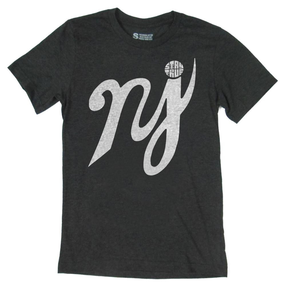 NJ Charcoal Scripture T-Shirt