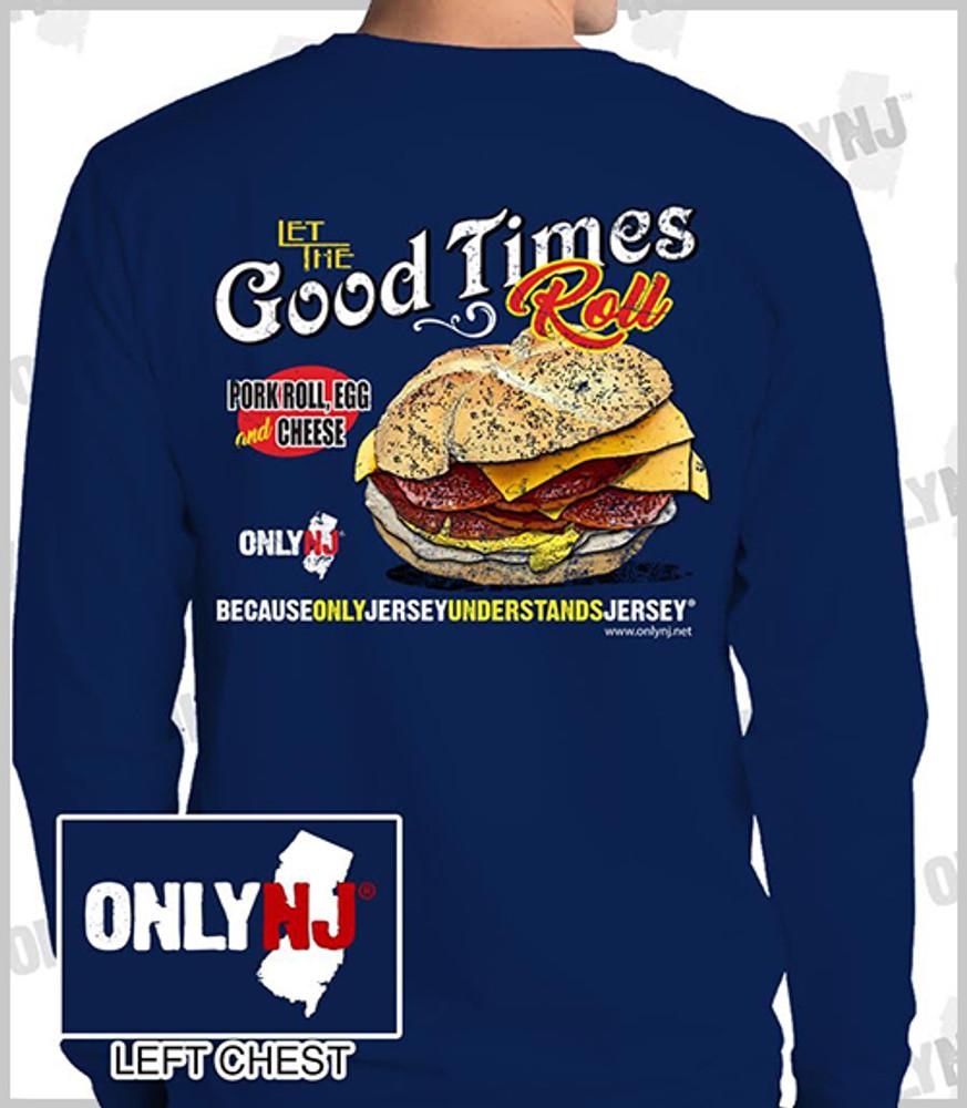 Navy Pork Roll Long Sleeve Tshirt