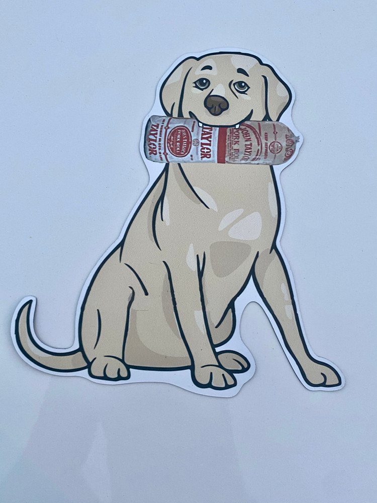 Pork Roll Dog Auto Magnet