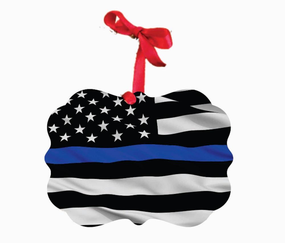 Police Blue Lives Matter Ornament