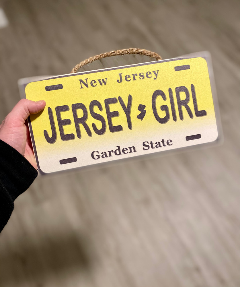 Jersey Girl License Plate Wood Sign
