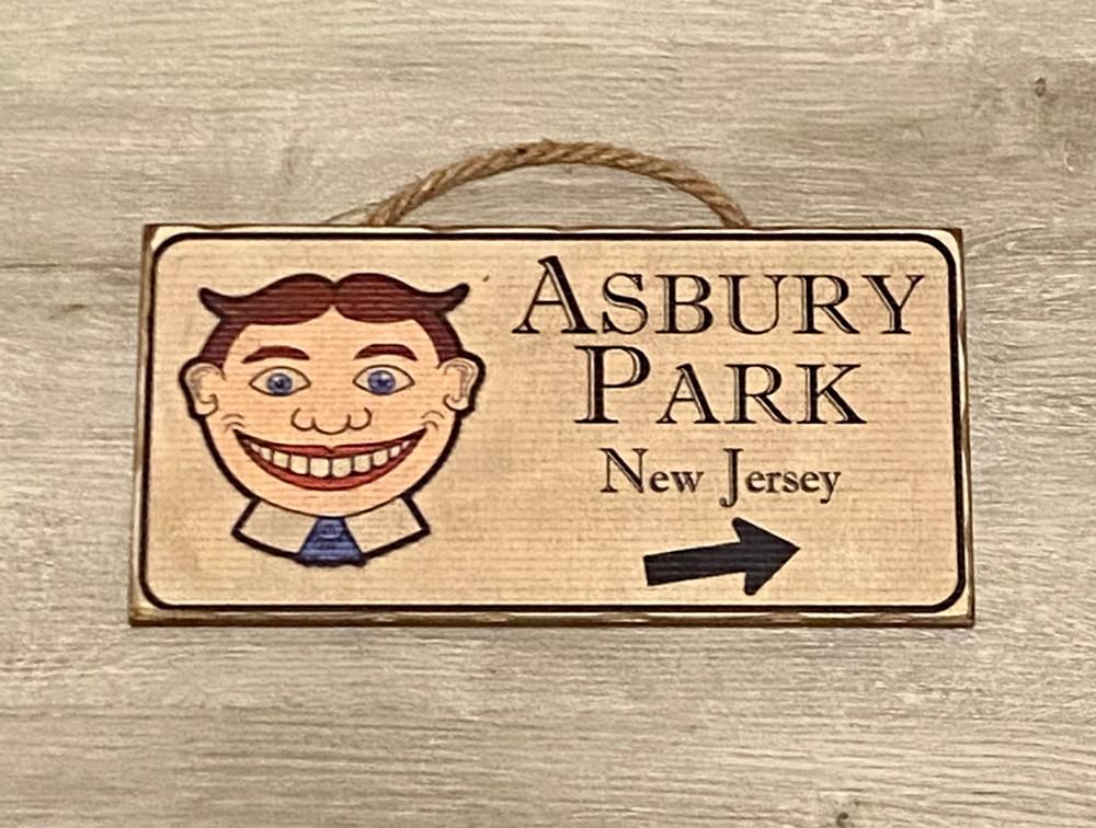 Tillie Asbury Park Wood Sign