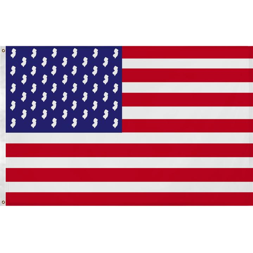 New Jersey American Flag