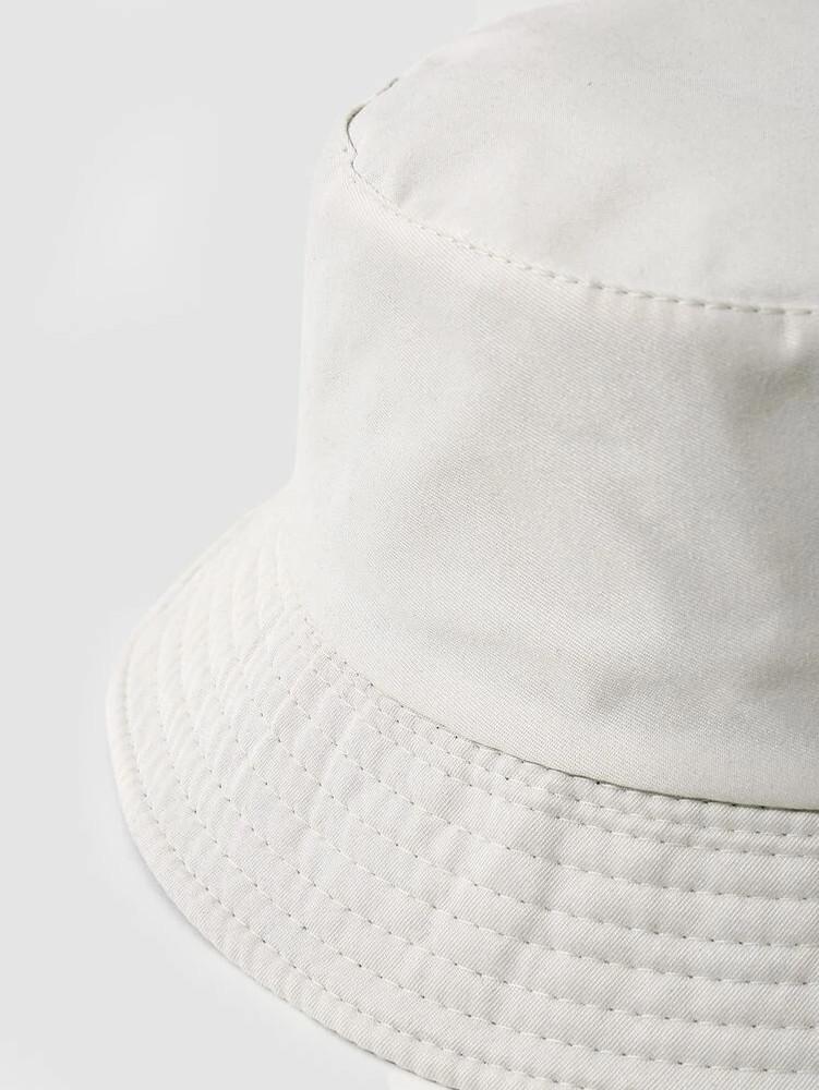 Plain White Bucket Hat