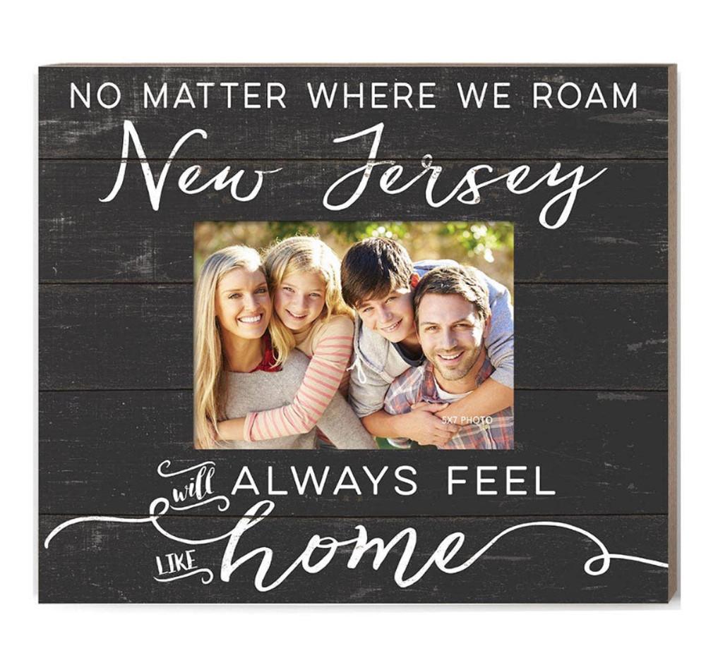 Weathered Slat Photo Frame Feels Like Home New Jersey