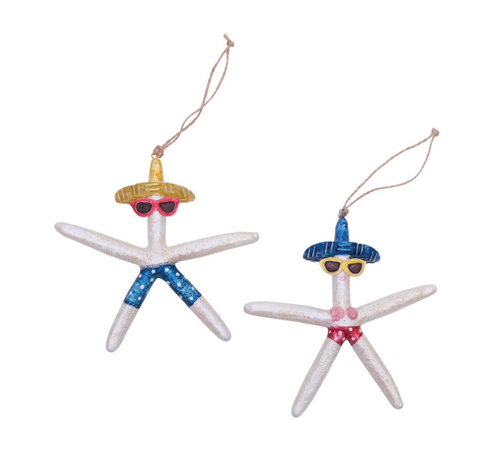 Decorate for the season with this wonderful Beach Babe Starfish Ornament. Perfect for your home or a gift or loved one. It's sure to delight year after year.