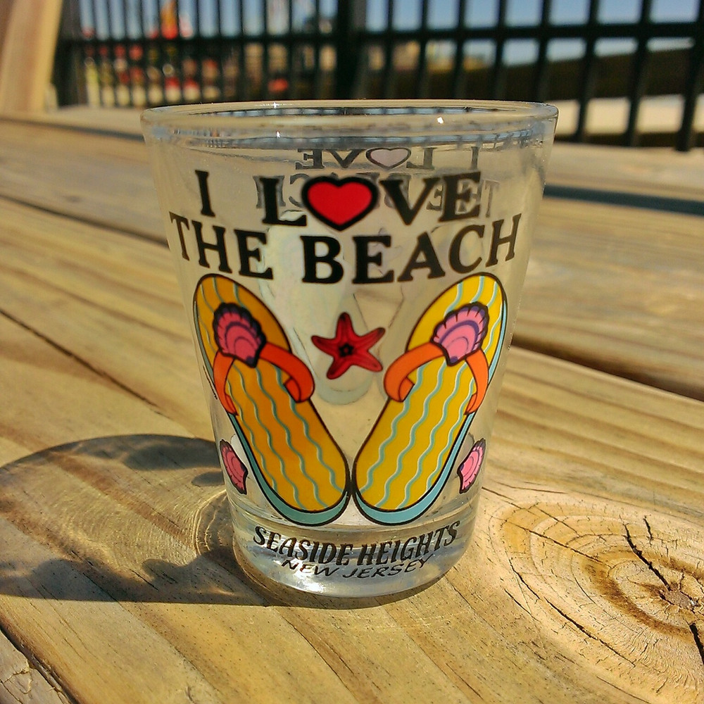 I Love The Beach Shot Glass
