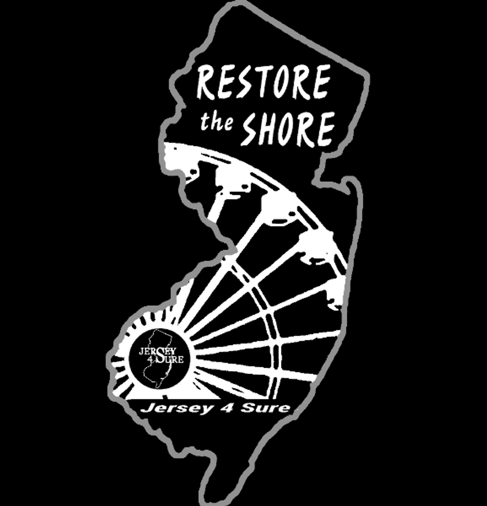 Restore The Shore Ferris Wheel Car Sticker Or Magnet Black