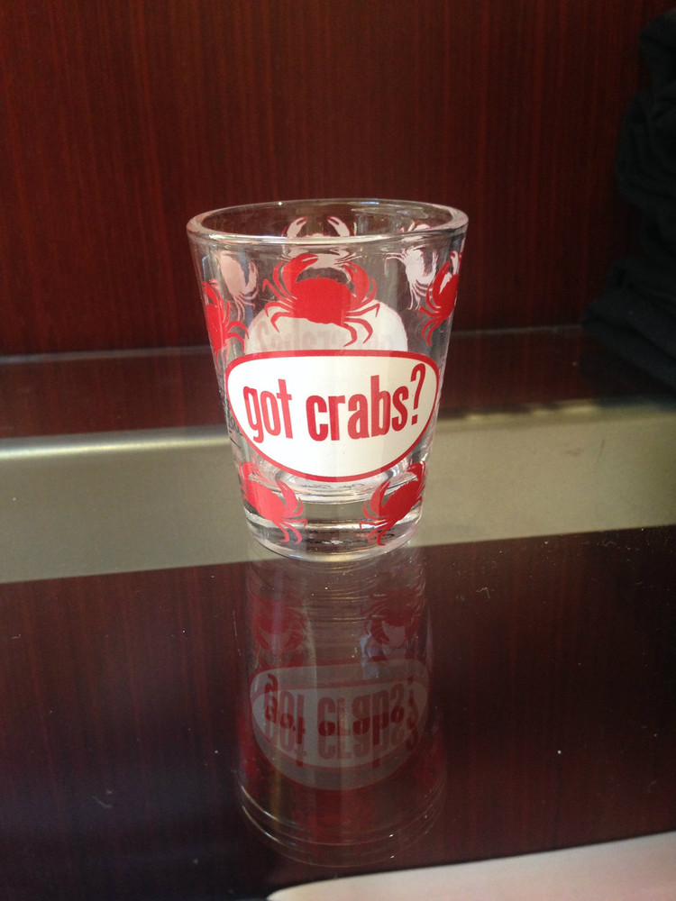 Got Crabs Shot Glass
