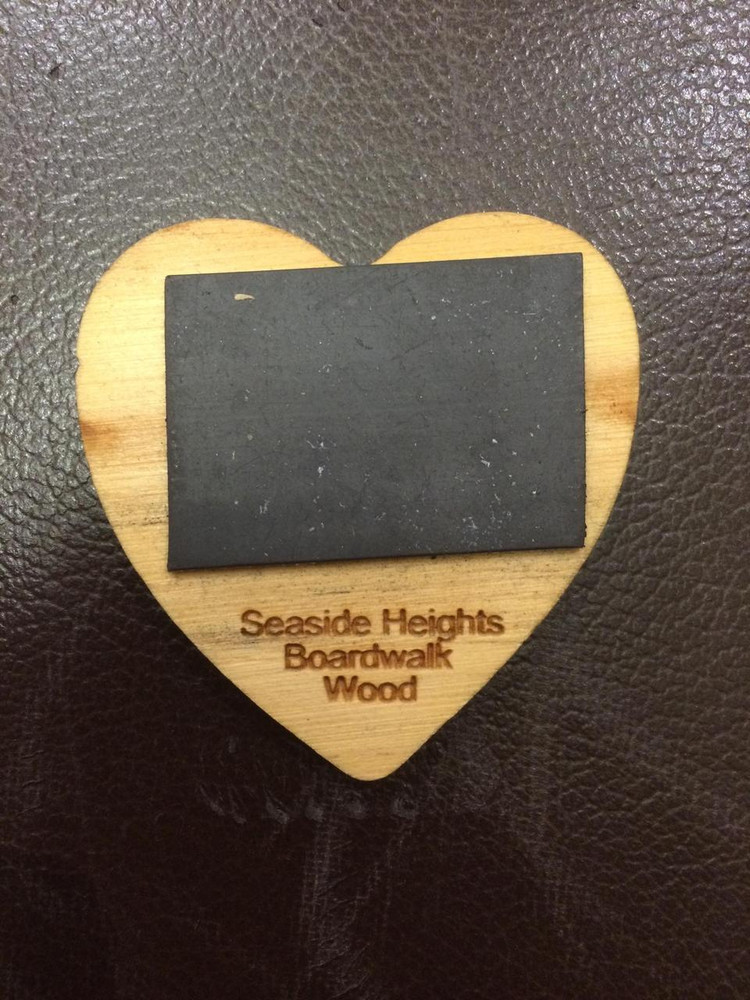 I Heart Seaside Heights Heart Shaped Magnet