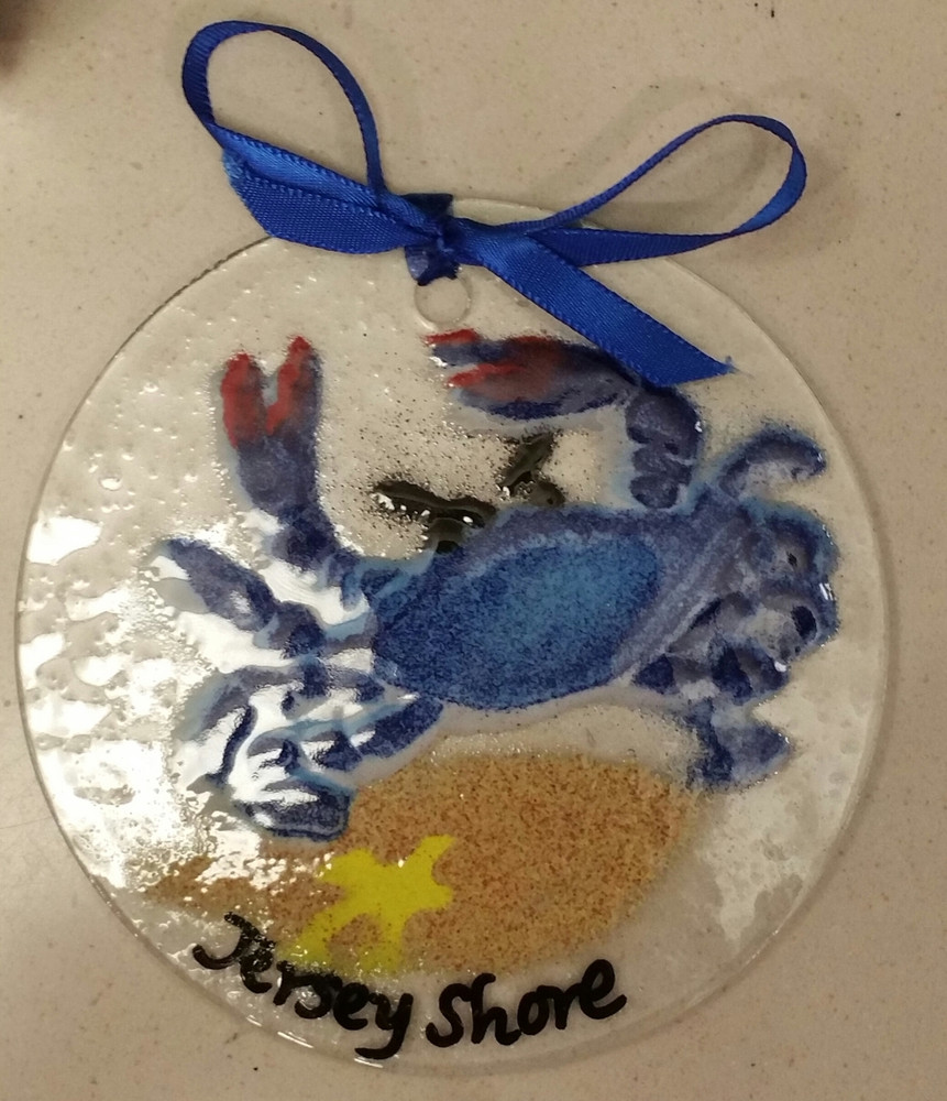 Jersey Shore Crab Handmade Ornament/Sun Catcher