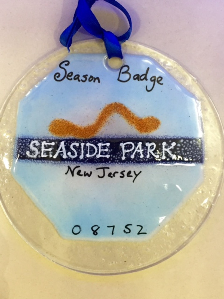 Seaside Park Badge Handmade Ornament/Sun Catcher