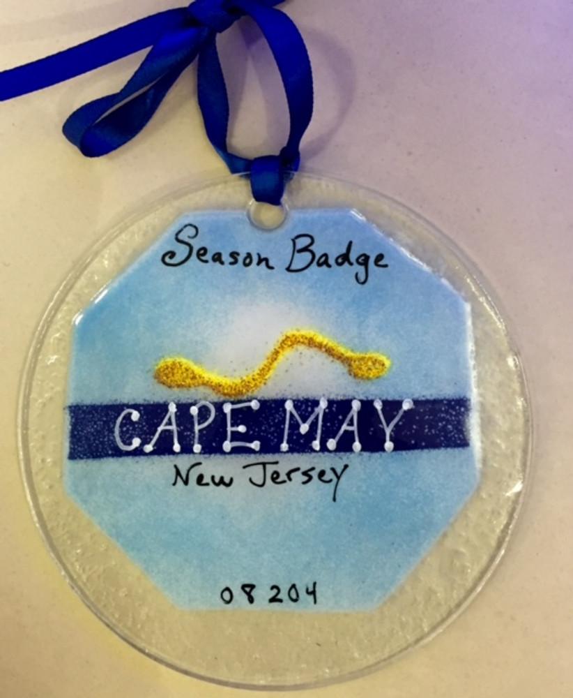 Cape May Badge Handmade Ornament/Sun Catcher
