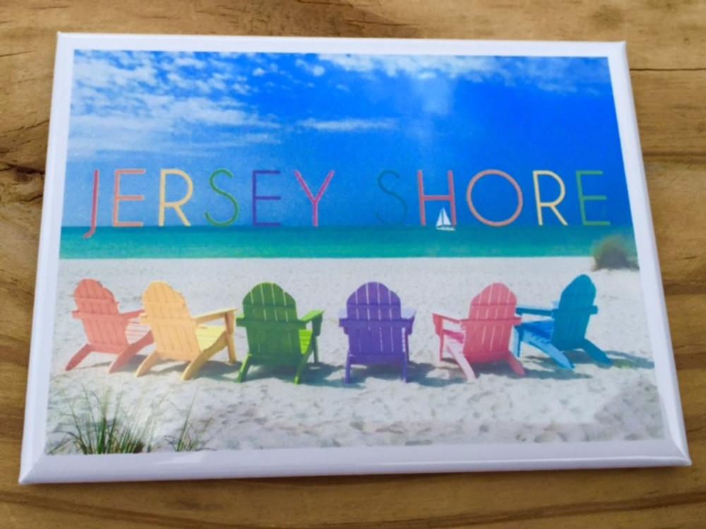 Jersey Shore Beach Chair Fridge Magnet