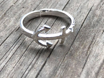 Sterling Silver Anchor Toe Ring