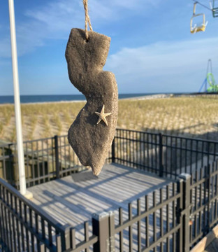 Handmade NJ Authentic Jersey Shore Sand Ornaments