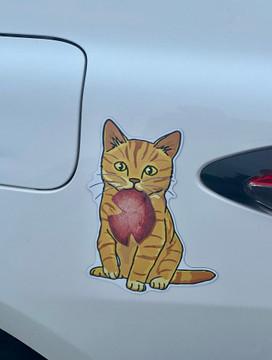 Pork Roll Cat Auto Magnet