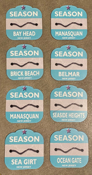 Jersey Shore Beach Badge Auto Magnets