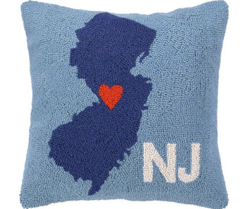 My Heart In New Jersey Hook Pillow