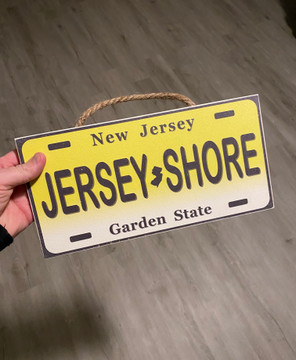 Jersey Shore Wood License Plate Sign