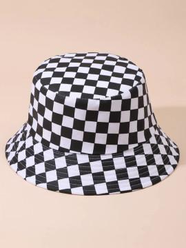 Checkered Bucket Hat