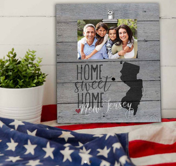 12 x 13 New Jersey Home Sweet Home Clip Photo Frame