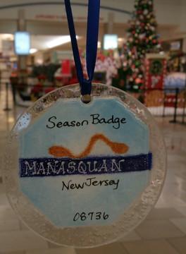 Manasquan Badge Handmade Ornament/Sun Catcher