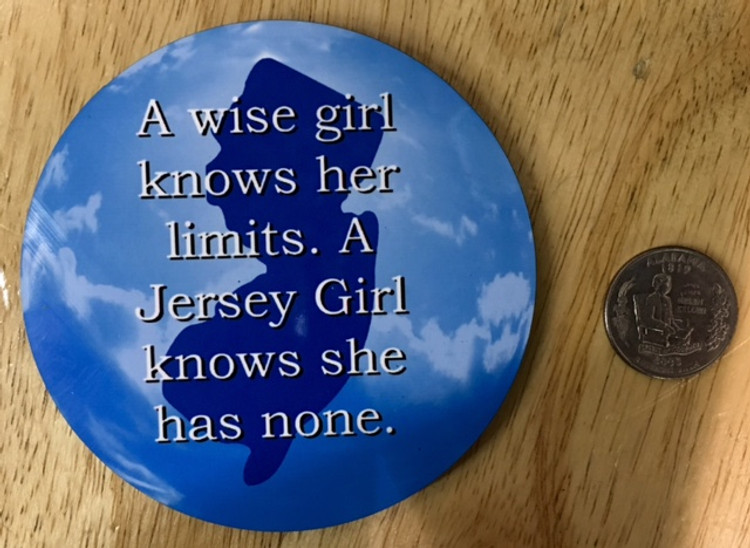 A Wise Girl Knows Her Limits Blue Fridge Magnet