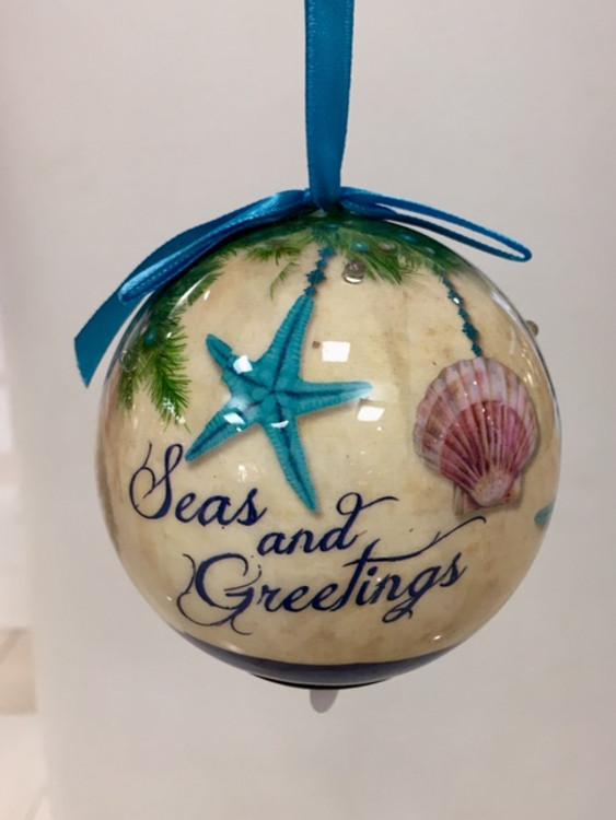 Circular Seas And Greetings Ornament