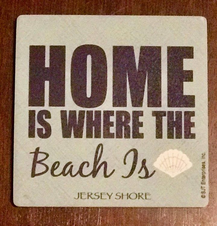 Home is where the beach is stone coaster