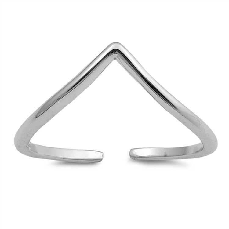 Sterling Silver V Shape Toe Ring
