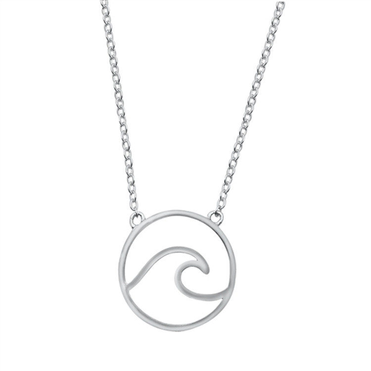 Pendant Height: 16 mm Length: 16 inches + 2 inch extension Material: Sterling Silver