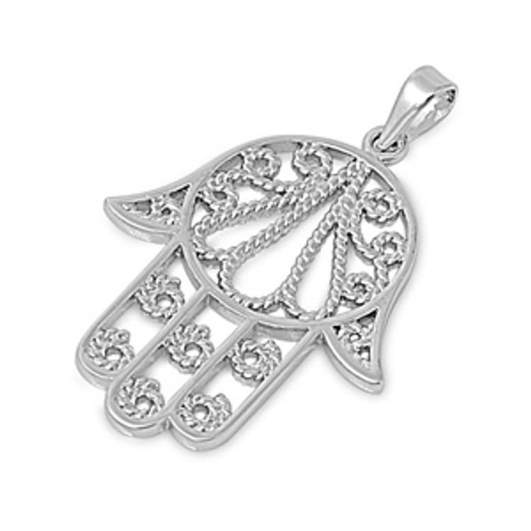 Sterling Silver Hamsa Necklaces