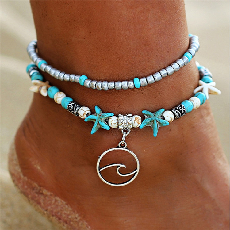 Starfish Wave Anklet Bracelet