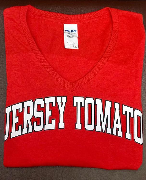 Jersey Tomato V Neck Tshirt