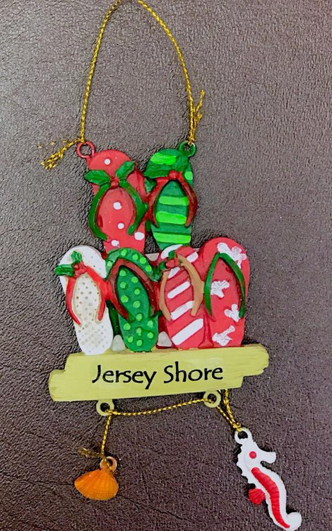 Flip Flop Dangling -Jersey Shore Ornament