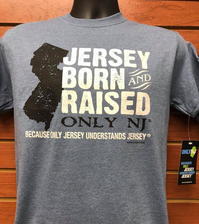 Jersey Born & Raised: Heather Denim Tshirt