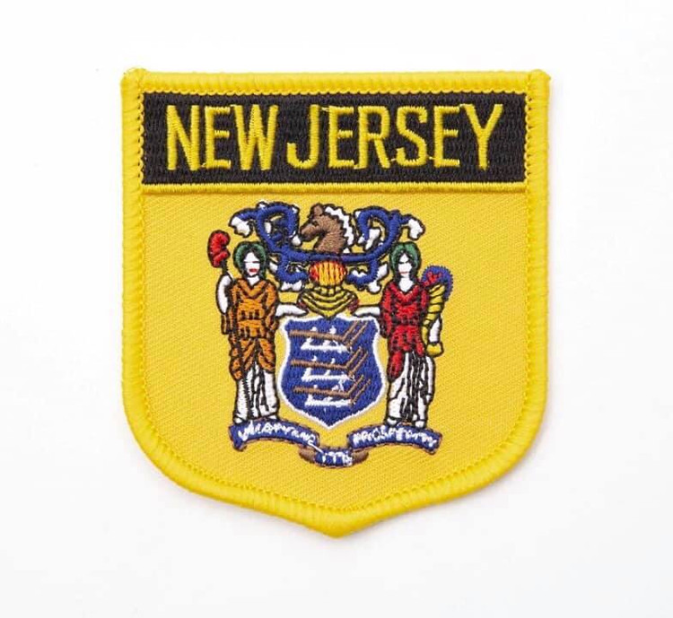 New Jersey State Iron On Embroidered  Patch