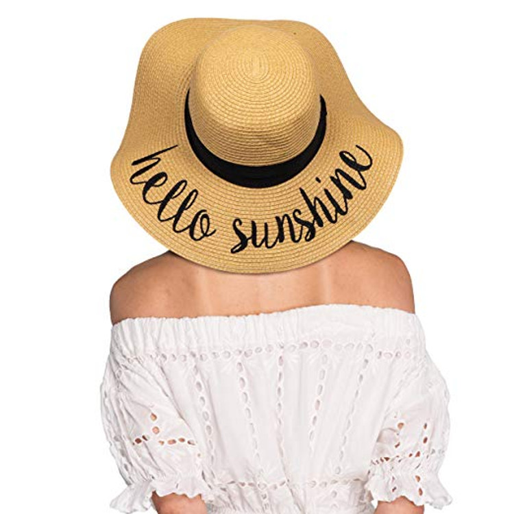 "One size fits most, circumference approximately 57cm   • Made with 100% paper, brim approximately 3.75""; crushable and packable for on-the-go   • Adjustable drawstring to keep the hat secure on breezy days   • Stay shaded and keep cool with this stylish, fun, sun hat   • C.C emblem on side, internal sweatband to keep the head cool"