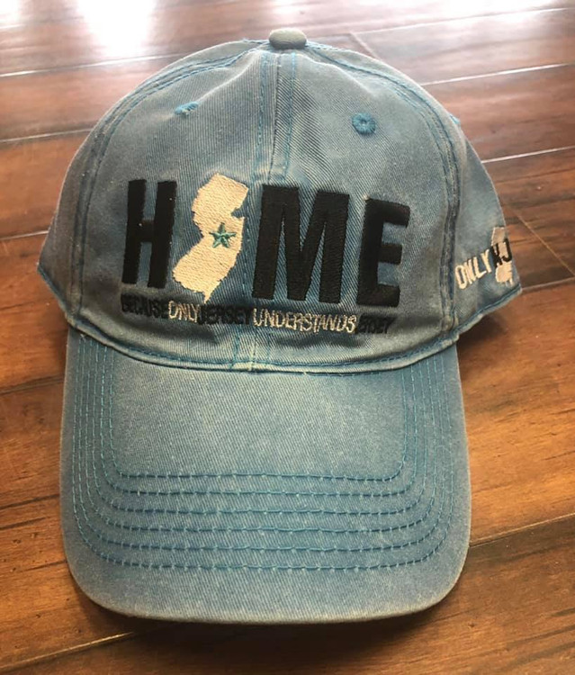 Low Crown Baseball Style Hat with Beautiful Embroidery on both the Front and Side of Hat. Let everyone know what Home means to you