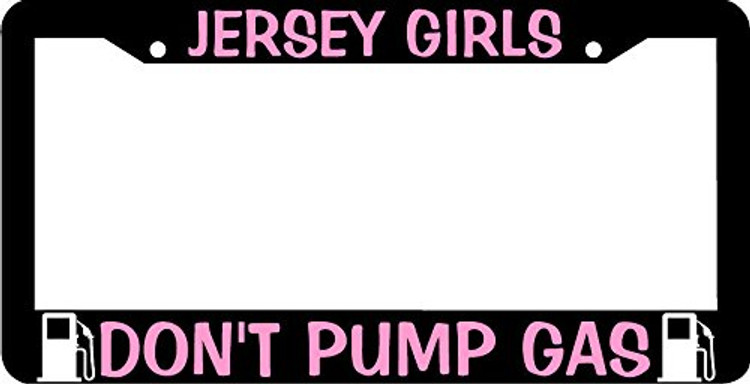 Black License Plate Frame ABS Plastic License Plate Frame Premium pink Vinyl Lettering Made For The Out Doors